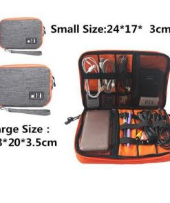 Waterproof Double Layer Cable Storage Bag Organizer